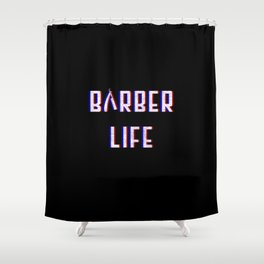 Barber Life Vintage Classic Barber Retro Distressed Gift Shower Curtain