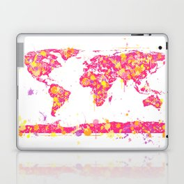 Graffiti World Map Laptop & iPad Skin