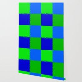 QUARTERS #1 (Blues & Greens) Wallpaper