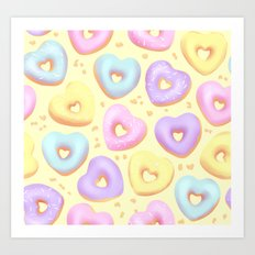 I Heart Donuts Art Print