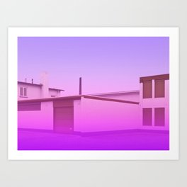 Surreal Architectural Geometry Art Print