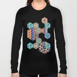 Hexagons Tiles (Colorful) Long Sleeve T-shirt