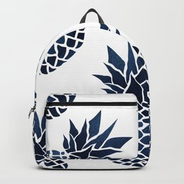 Pineapple Blue Denim Backpack
