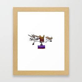 illustration of mechanical unicorn Framed Art Print