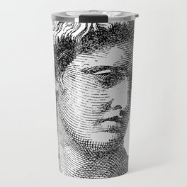 Portrait of Apollo Belvedere Travel Mug