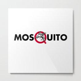 Mosquito Text Mascot Metal Print