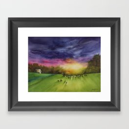 Until the Cows Come Home Framed Art Print