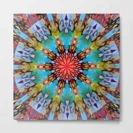 Colordrop Mandala 1 Metal Print
