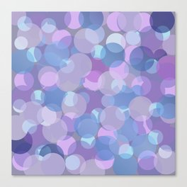 Pastel Pink and Blue Balls Canvas Print
