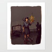lacrosse Art Prints featuring Lacrosse of DOOM by carbonatedink