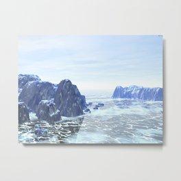 Land of Ice Metal Print