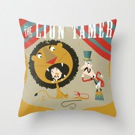 Lion Tamer Throw Pillow