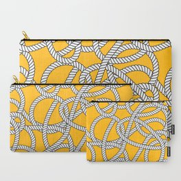 Nautical Yellow Rope Pattern Repeat Carry-All Pouch