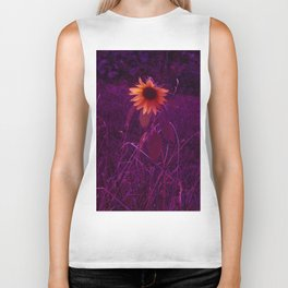 Purple Sunflower Biker Tank