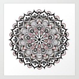 Birds Nest Mandala Art Print