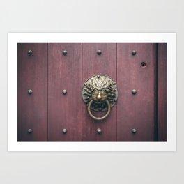 Urban minimal - Door knocker Art Print