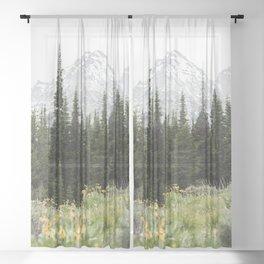 Grand Teton National Park Wildflower Adventure - Wanderlust Mountains Sheer Curtain