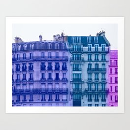 Colorful Paris Buildings Art Print