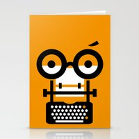 typewriter Stationery Cards featuring typewriter by oguzhan