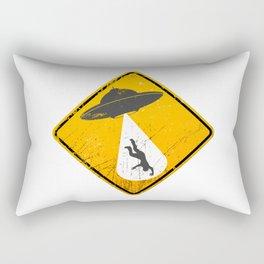Caution: Abduction Zone Rectangular Pillow