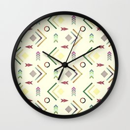 Arrows Pattern Wall Clock