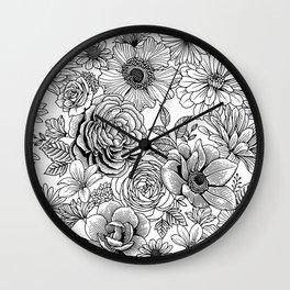 Flower Power 1.1 Wall Clock