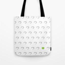 Hearts - Green Tote Bag