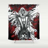 dracula Shower Curtains featuring Vampire Dracula by Manuel Cortaza