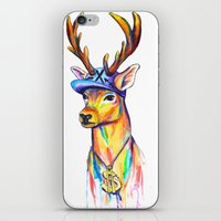 swag iPhone & iPod Skins featuring Swag Stag by Heather Hartley