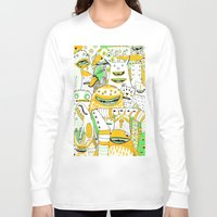 it crowd Long Sleeve T-shirts featuring Monster crowd by AliceDudurand
