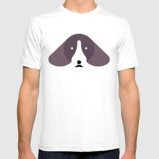 Pedigree: Dachshund SMALL Mens Fitted Tee White