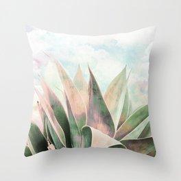 Landscape plant paint Throw Pillow