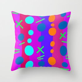 Party Time / Red Throw Pillow