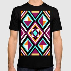 Quilt Pattern SMALL Mens Fitted Tee Black