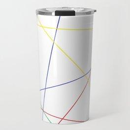 Web of Basic Colors Travel Mug