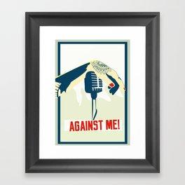 Against me! fan art Framed Art Print
