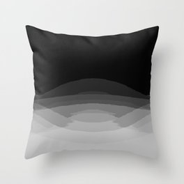 Gray Black Ombre Pattern Throw Pillow