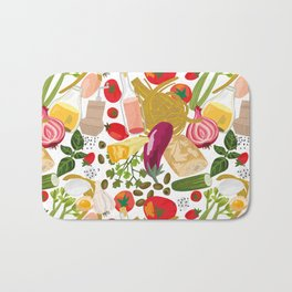 Fresh Italian Market Food Bath Mat