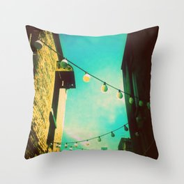 Valley Laneway in Lights  Throw Pillow