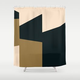 High contrast abstract Shower Curtain