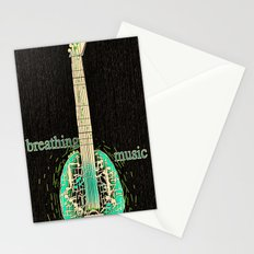 Breathing music Stationery Cards