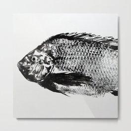 gyotaku - koi fish Metal Print