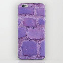Ultra Violet Texture Ancient Cobblestone Roadway Close-up iPhone Skin