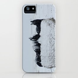 A horses snow day iPhone Case