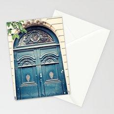 Paris door, navy, grand Stationery Cards