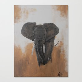 Lone Elephant Canvas Print