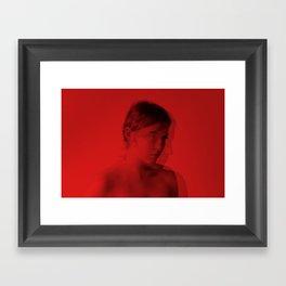 red self portrait Framed Art Print