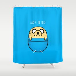 Jake's in here Shower Curtain