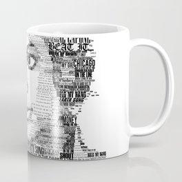 Pop King MJ Typography Portrait Coffee Mug