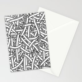 entwined stripes Stationery Cards